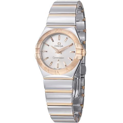Omega Women's 123.20.27.60.02.003 'Constellation' Silver Dial Two Tone Quartz Watch