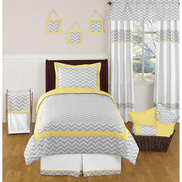 Sweet Jojo Designs Chevron Zigzag 4 Piece Twin Comforter Set