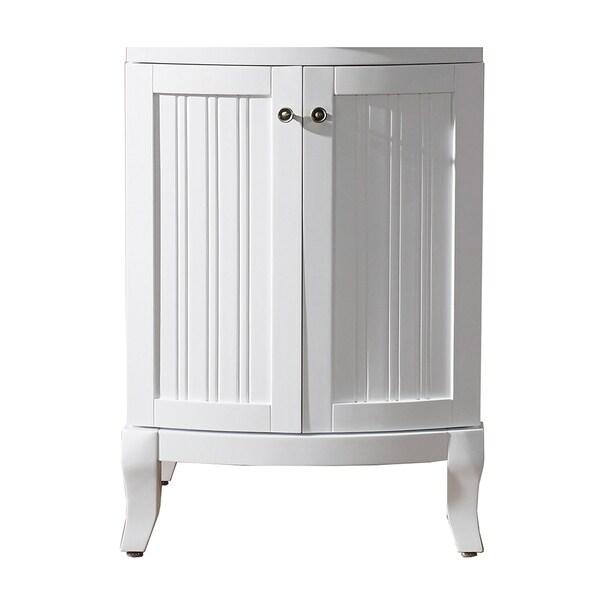 virtu usa khaleesi 24 inch white bathroom vanity cabinet free