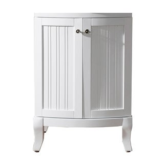 Virtu USA Khaleesi 24-inch White Bathroom Vanity cabinet