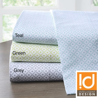 Intelligent Design Diamond Cotton 200 Thread Count Sheet Set