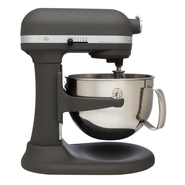 Grey Kitchenaid Mixer: KitchenAid RKP26M1XGR Imperial Gray Pro 600 6-quart Bowl