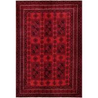 Handmade Herat Oriental Afghan Tribal Balouchi Wool Rug  - 6'5 x 9'5 (Afghanistan)