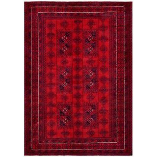 Handmade One-of-a-Kind Balouchi Wool Rug (Afghanistan) - 6'1 x 8'10