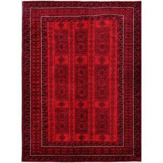 Handmade One-of-a-Kind Balouchi Wool Rug (Afghanistan) - 6'6 x 8'8