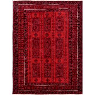 Herat Oriental Afghan Hand-knotted Tribal Balouchi Wool Rug (6'6 x 8'8)
