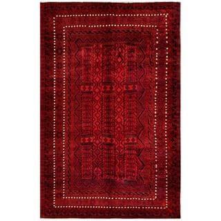Herat Oriental Afghan Hand-knotted Tribal Balouchi Wool Rug (6'6 x 10'1)