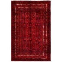 Handmade Herat Oriental Afghan Tribal Balouchi Wool Rug  - 6'6 x 10'1 (Afghanistan)