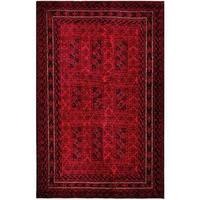 Herat Oriental Afghan Hand-knotted Tribal Balouchi Wool Rug (5'9 x 8'11) - 5'9 x 8'11