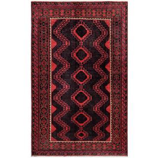 Herat Oriental Afghan Hand-knotted Tribal Balouchi Wool Rug - 5'8 x 9'2
