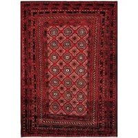 "Herat Oriental Afghan Hand-knotted Tribal Balouchi Wool Rug - 6'7"" x 9'5"""