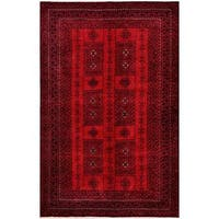 Herat Oriental Afghan Hand-knotted Tribal Balouchi Wool Rug (6' x 9'7) - 6' x 9'7