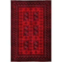Herat Oriental Afghan Hand-knotted Tribal Balouchi Wool Rug (6'3 x 9'6) - 6'3 x 9'6
