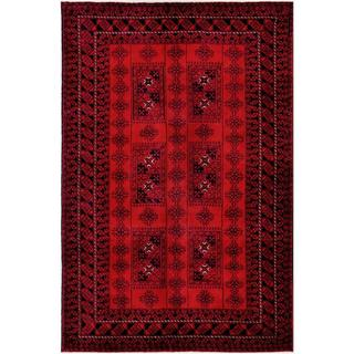 Handmade One-of-a-Kind Balouchi Wool Rug (Afghanistan) - 6'3 x 9'6