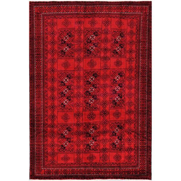 Handmade One-of-a-Kind Balouchi Wool Rug (Afghanistan) - 6'5 x 9'2