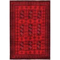 Handmade Herat Oriental Afghan Tribal Balouchi Wool Rug  - 6'5 x 9'2 (Afghanistan)