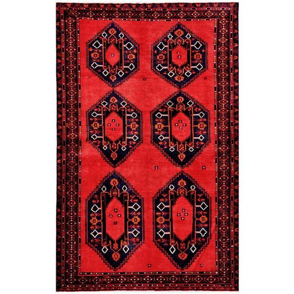 Handmade Herat Oriental Afghan Tribal Balouchi Wool Rug - 6'2 x 9'7 (Afghanistan)