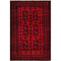 Herat Oriental Afghan Hand-knotted Tribal Balouchi Wool Rug - 6'4 x 9'3
