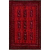 Herat Oriental Afghan Hand-knotted Tribal Balouchi Wool Rug - 6'5 x 9'9