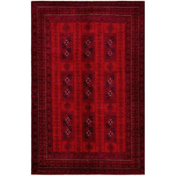 Handmade One-of-a-Kind Balouchi Wool Rug (Afghanistan) - 6'5 x 9'9