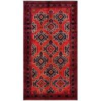 Herat Oriental Afghan Hand-knotted Tribal Balouchi Wool Rug - 5'3 x 9'7