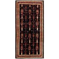 Herat Oriental Afghan Hand-knotted Tribal Balouchi Wool Runner - 4'5 x 9'2