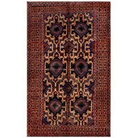 Herat Oriental Afghan Hand-knotted Tribal Balouchi Wool Rug (6' x 9'9) - 6' x 9'9