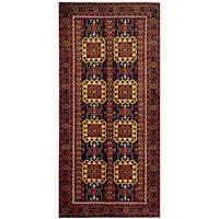 Herat Oriental Afghan Hand-knotted Tribal Balouchi Wool Runner - 4'6 x 9'5