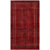 Handmade Herat Oriental Afghan Tribal Balouchi Wool Rug  - 5'6 x 9'5 (Afghanistan)