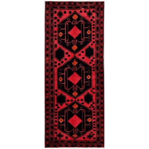Handmade One-of-a-Kind Balouchi Wool Rug (Afghanistan) - 4'1 x 10'1
