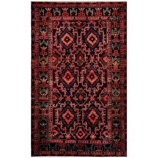 Herat Oriental Afghan Hand-knotted Tribal Balouchi Wool Rug (5'6 x 9'2)