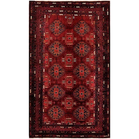 Handmade One-of-a-Kind Balouchi Wool Rug (Afghanistan) - 5'7 x 9'3