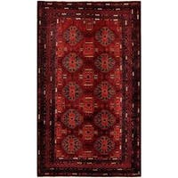 Herat Oriental Afghan Hand-knotted Tribal Balouchi Wool Rug (5'7 x 9'3) - 5'7 x 9'3