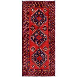 Herat Oriental Afghan Hand-knotted Tribal Balouchi Wool Runner (4'6 x 10'3) - 4'6 x 10'3