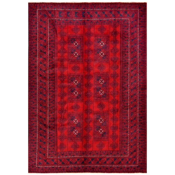 Herat Oriental Afghan Hand-knotted Tribal Balouchi Wool Rug (6'6 x 9'4) - 6'6 x 9'4