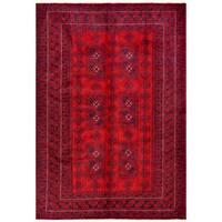 Handmade Herat Oriental Afghan Tribal Balouchi Wool Rug  - 6'6 x 9'4 (Afghanistan)