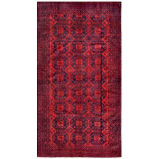 Herat Oriental Afghan Hand-knotted Tribal Balouchi Wool Rug (5'4 x 9'11)