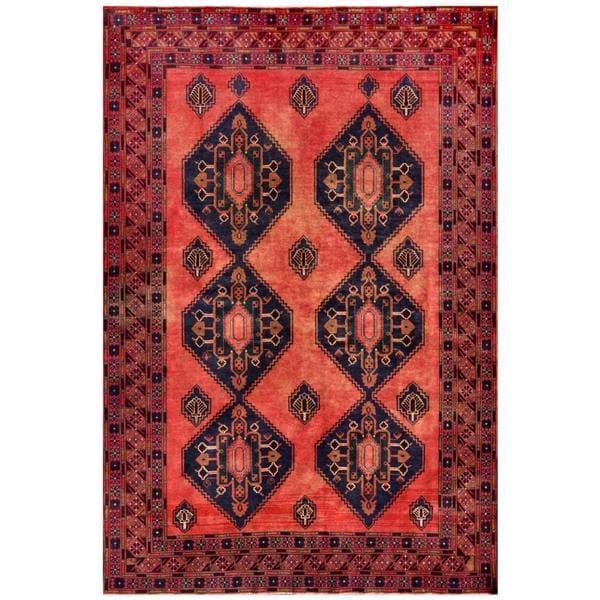 Handmade Herat Oriental Afghan Tribal Balouchi Wool Rug - 6'9 x 10'2 (Afghanistan)