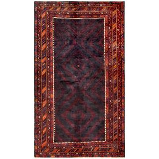Herat Oriental Afghan Hand-knotted Tribal Balouchi Wool Rug (5' x 8'8)