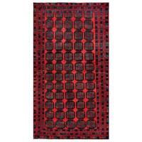 Handmade Herat Oriental Afghan Tribal Balouchi Wool Rug  - 5'2 x 9'5 (Afghanistan)