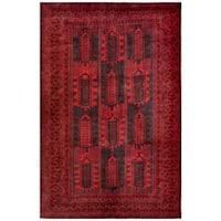 Handmade Herat Oriental Afghan Tribal Balouchi Wool Rug  - 6'7 x 10'1 (Afghanistan)