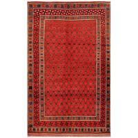 Herat Oriental Afghan Hand-knotted Tribal Balouchi Wool Rug (5'2 x 8'6) - 5'2 x 8'6