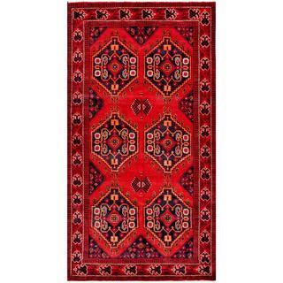 Herat Oriental Afghan Hand-knotted Tribal Balouchi Wool Rug (4'7 x 8'8)
