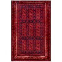 Herat Oriental Afghan Hand-knotted Tribal Balouchi Wool Rug (5'1 x 8'1) - 5'1 x 8'1