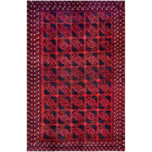 Herat Oriental Afghan Hand-knotted Tribal Balouchi Wool Rug (7'5 x 11'4) - 7'5 x 11'4
