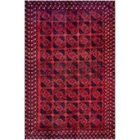 Handmade Herat Oriental Afghan Tribal Balouchi Wool Rug (Afghanistan) - 7'5 x 11'4