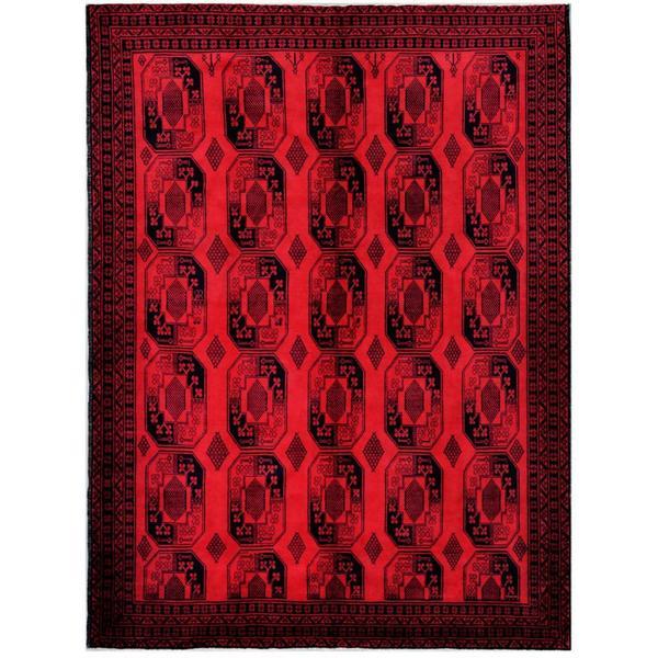 Herat Oriental Afghan Hand-knotted Tribal Balouchi Wool Rug (7'6 x 10'3) - 7'6 x 10'3