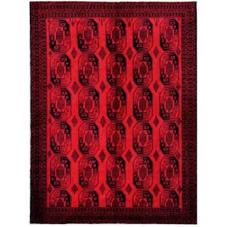 Herat Oriental Afghan Hand-knotted Tribal Balouchi Wool Rug (7'6 x 10'3)