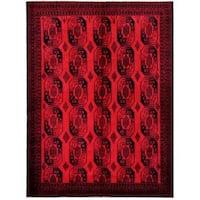 Handmade Herat Oriental Afghan Tribal Balouchi Wool Rug (Afghanistan) - 7'6 x 10'3