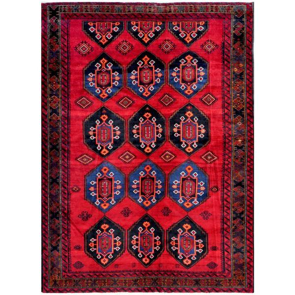 Herat Oriental Afghan Hand-knotted Tribal Balouchi Wool Rug - 7'2 x 9'8